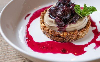 Vanilla Crème Cheery Crumble @Epicurean