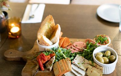 Vegan Cheese and Meat Platter @Euro Kitchen Vegan Restaurant