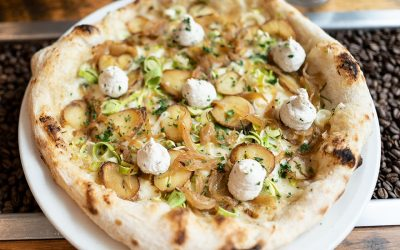 Feta and Caramelised Onion Pizza @Henry and the Fox