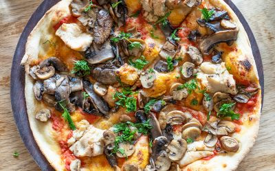Mushroom and Feta Pizza @Pizza meine liebe