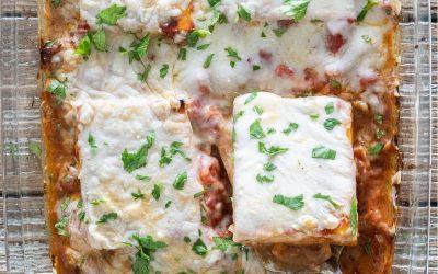Balsamic baked tofu & mozzarella